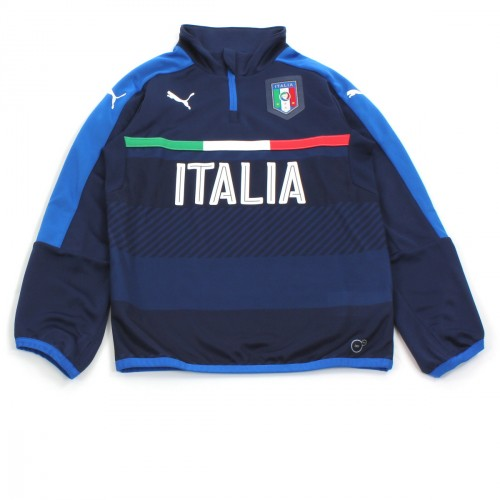 FIGC 1/4 ZIP TRAINING TOP PEACOAT