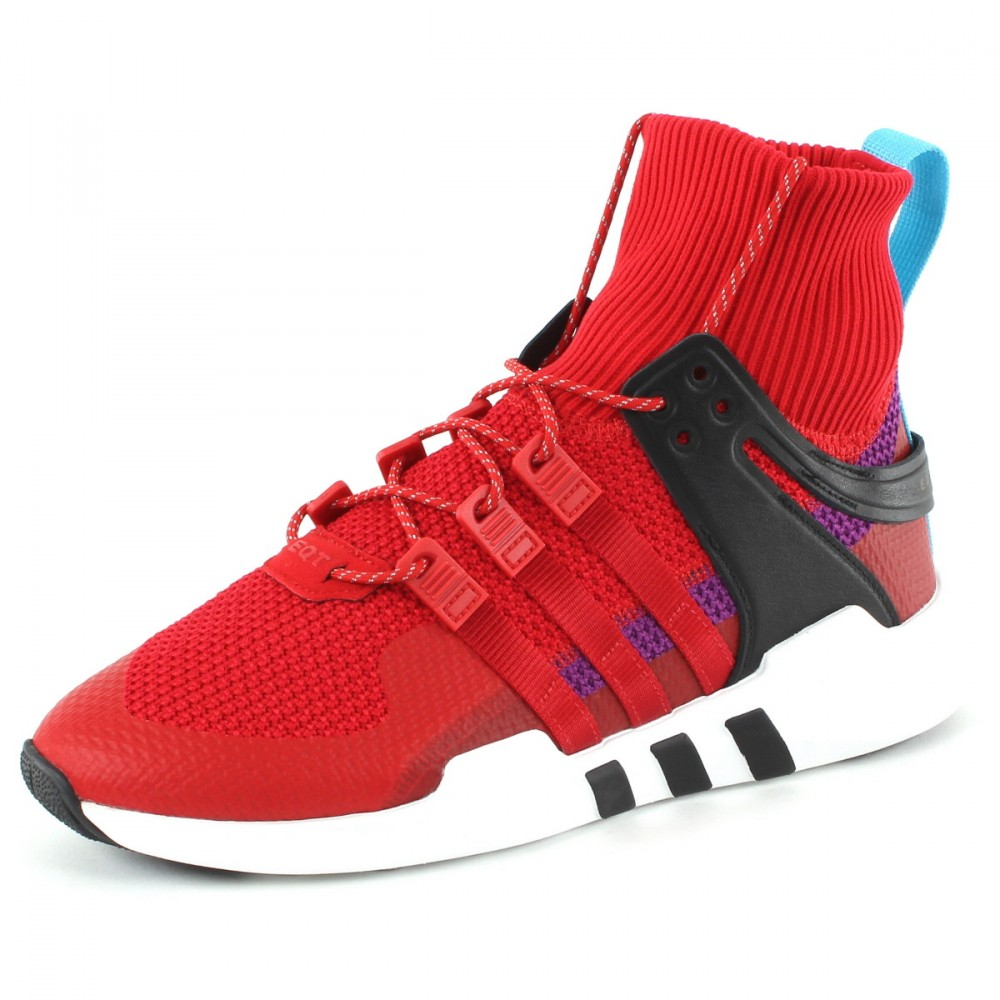 Baskets Adidas Originals Homme – Baskets montantes EQT Support ADV Winter Rouge Adidas EQT, Baskets Homme