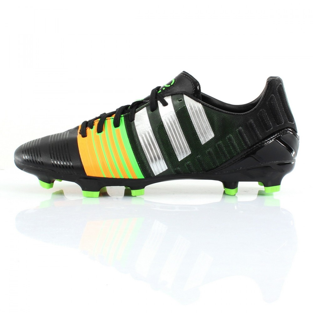 ADIDAS Nitrocharge 2.0 TERRAIN DUR FOOTBALL bottes taille 8 chaussures noires MkRsz